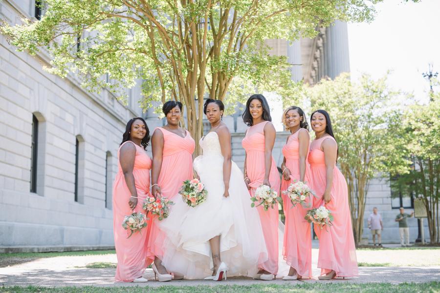 bride and bridesmaids slay