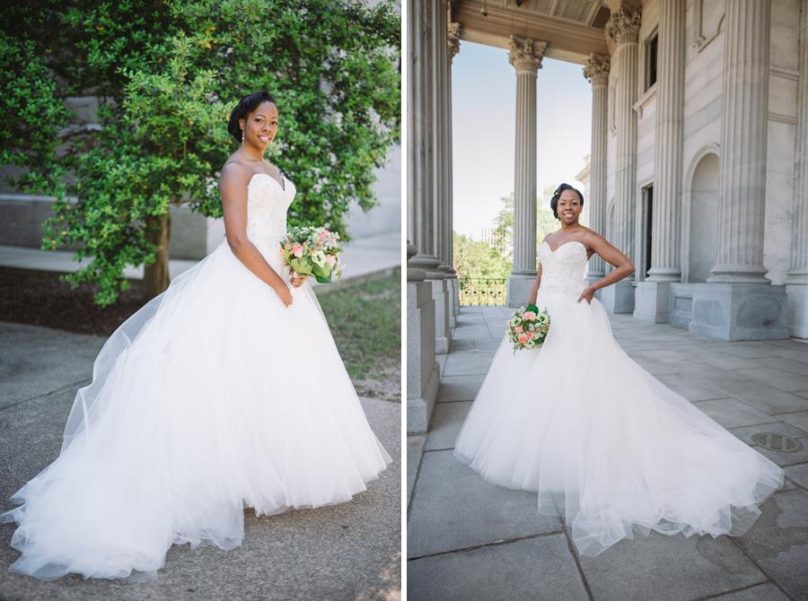 stunning bride tulle dress