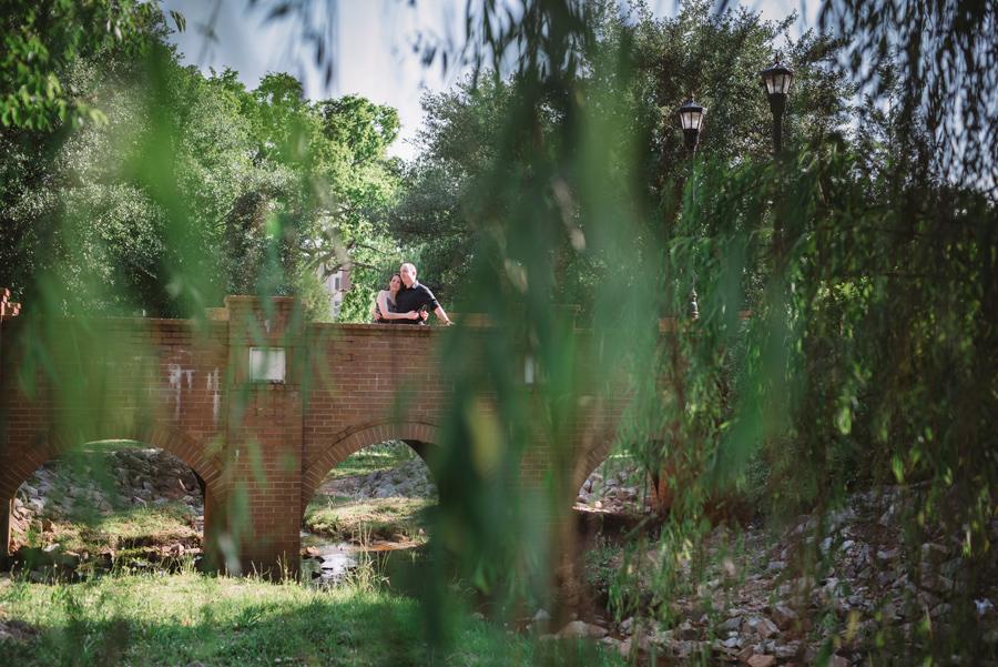 bridge engagement session willow tree