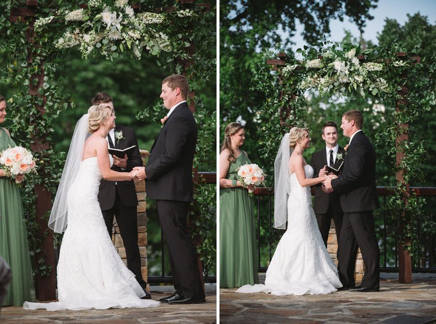 laughter wedding ceremony stone river columbia sc