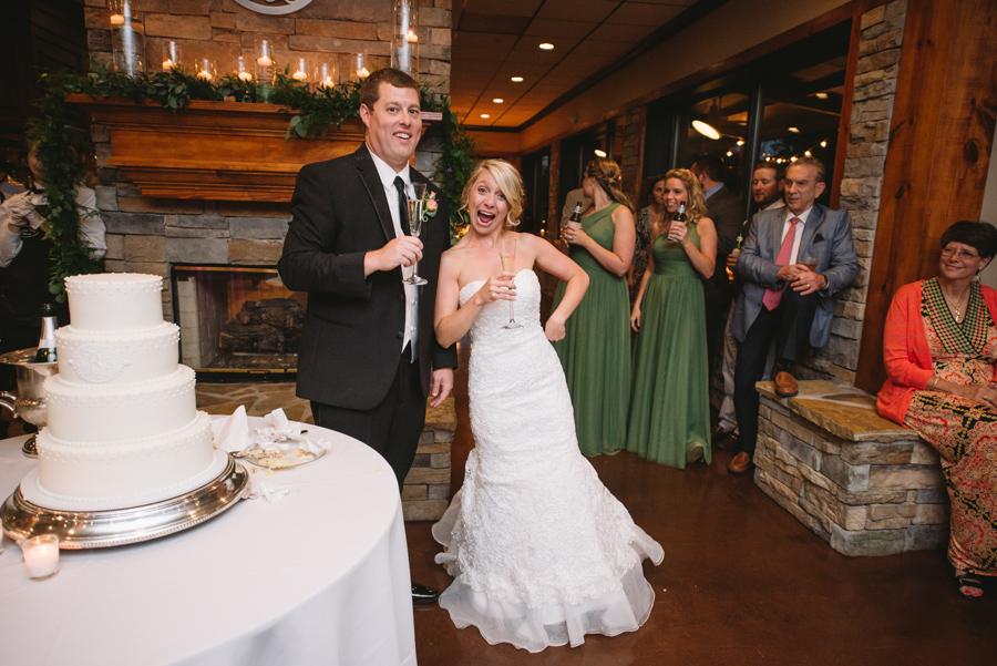 fun bride and groom