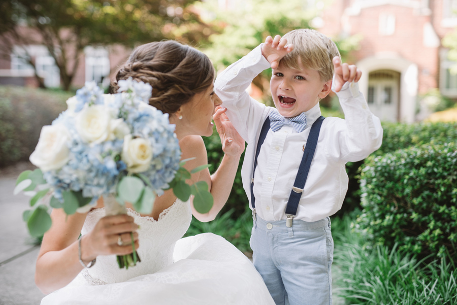 bride and ringbearer silly