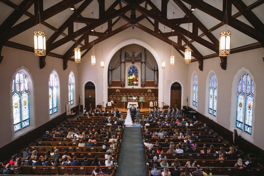 wide shot of ceremony