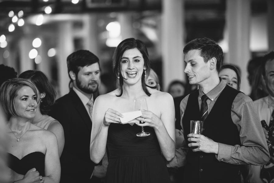 sister of groom moment