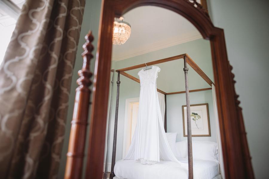 dress hanging beautiful reflection