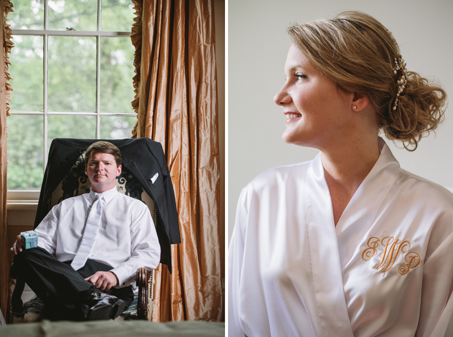 bride and groom pre-ceremony