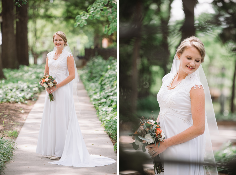 bride at lace house