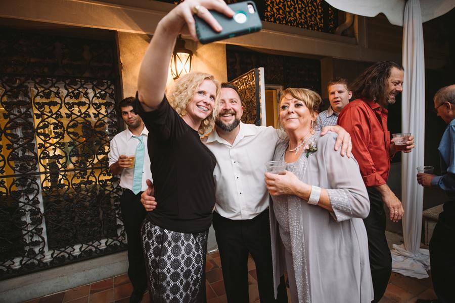wedding reception selfies