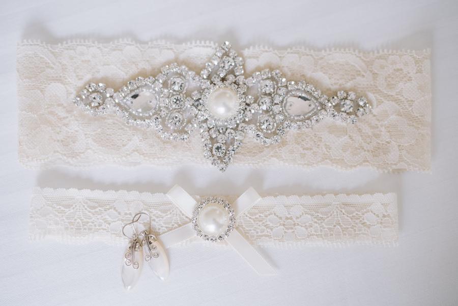custom lace garters bride details