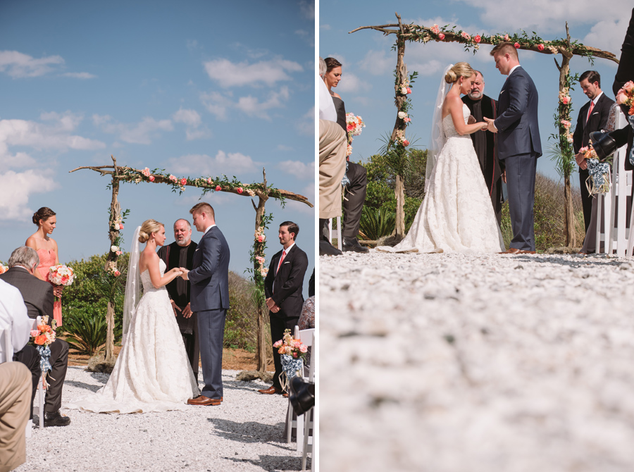 wedding ceremony by the ocean