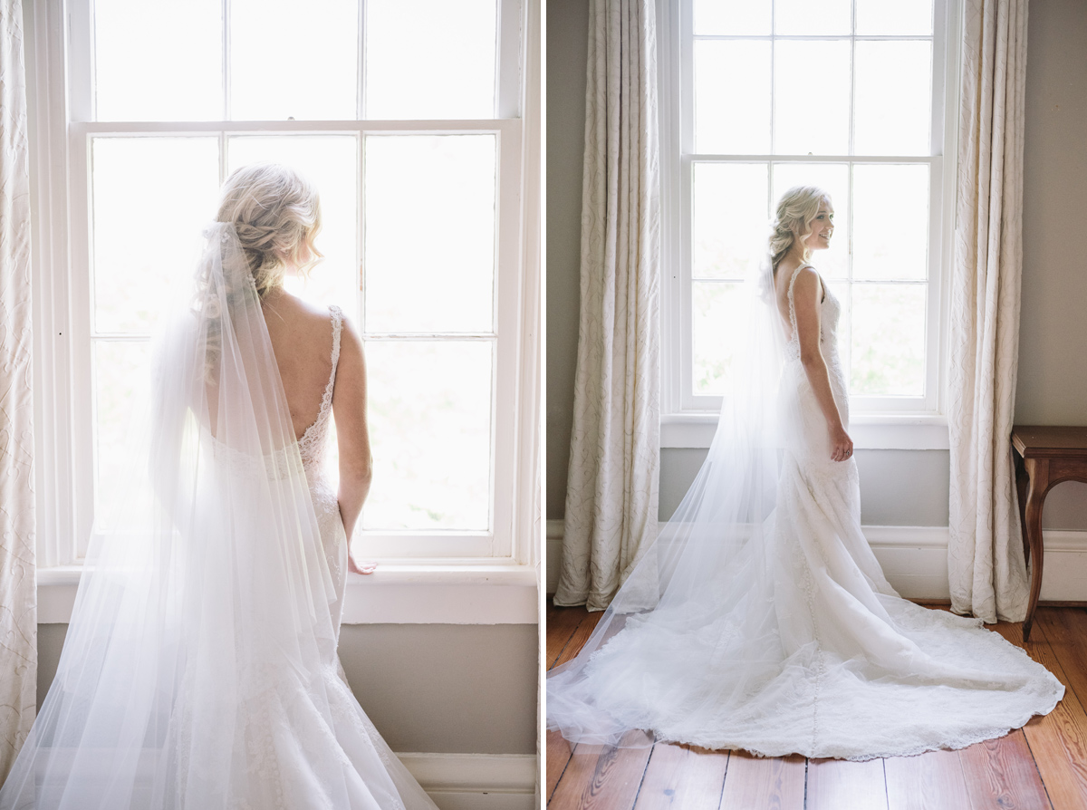 lace house bride in window