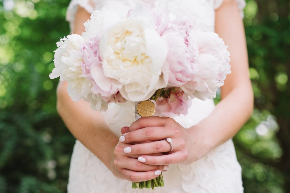bridal bouquet monogram