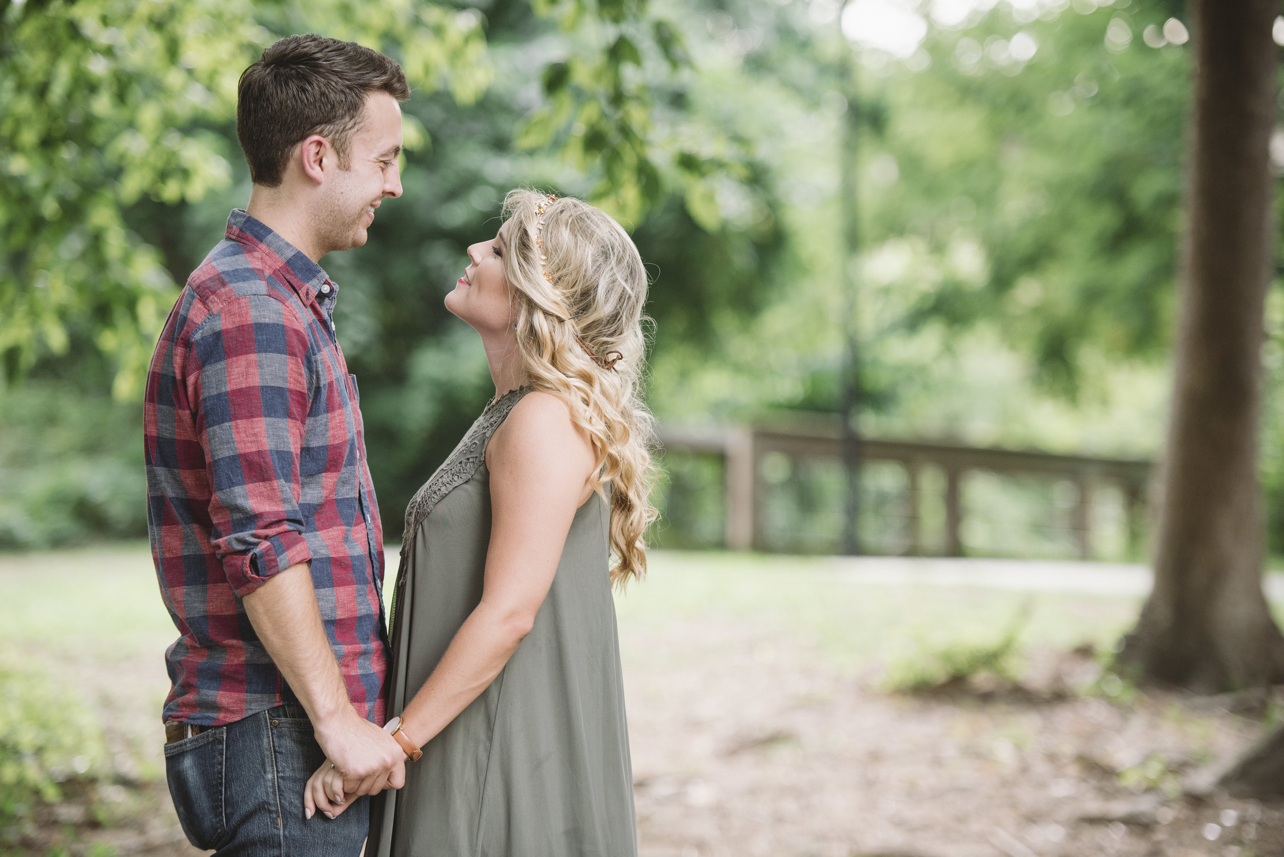 woodland engagement session