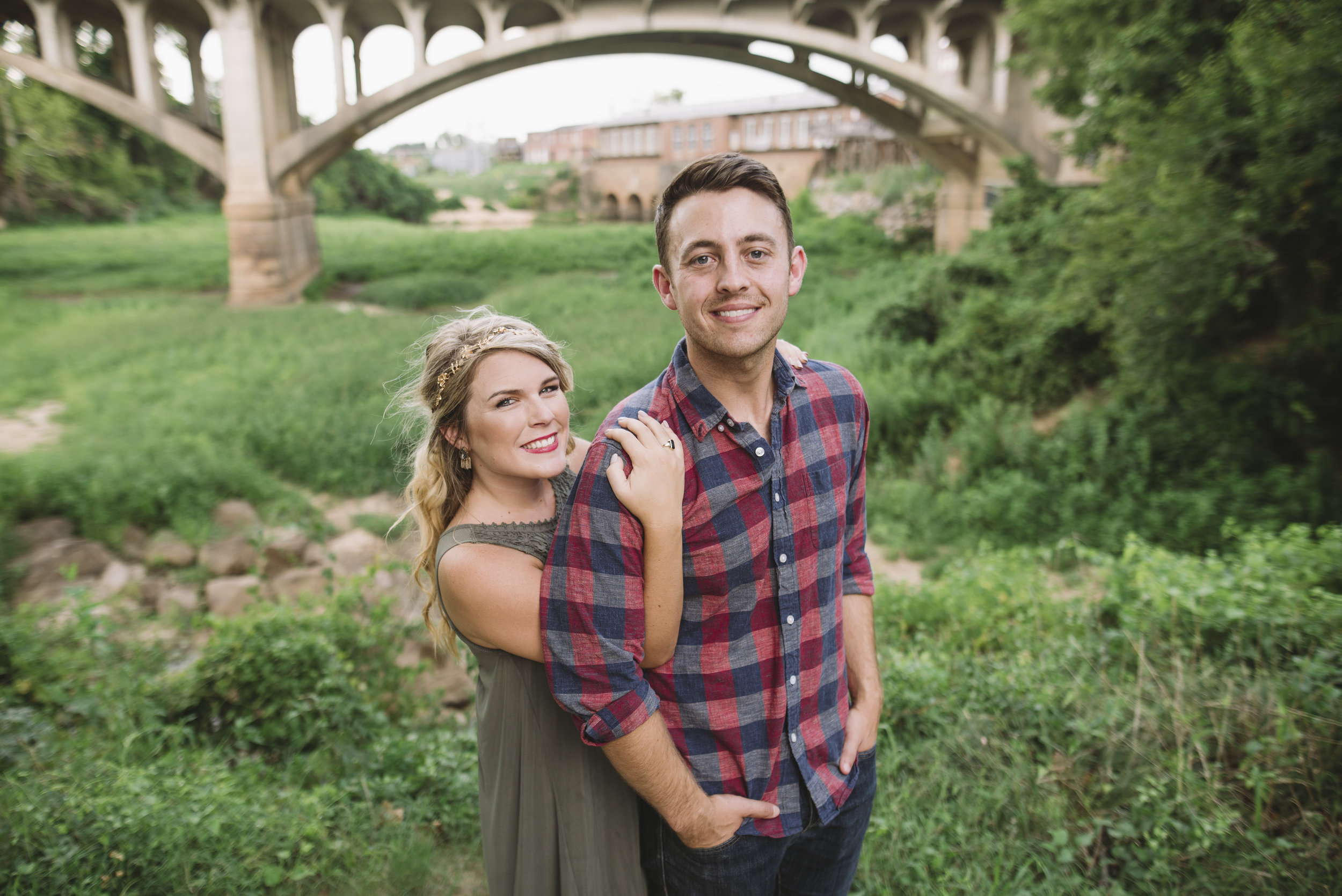 gervias street bridge engagement session