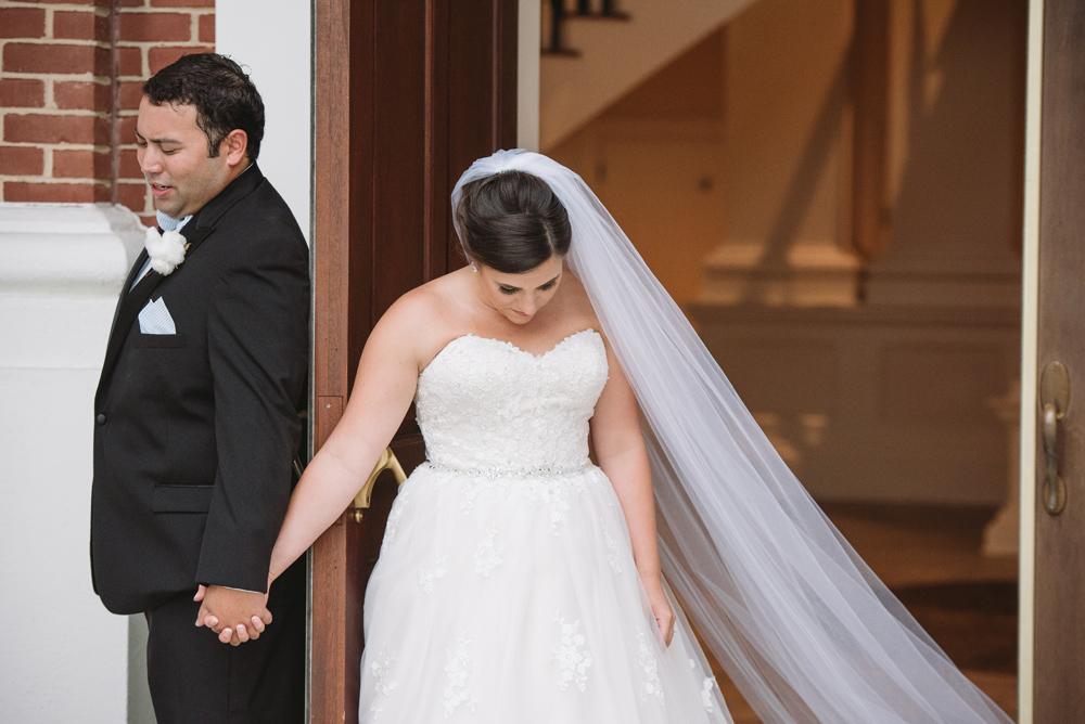 quiet moment prayer bride and groom