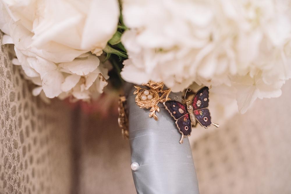 brides bouquet charms