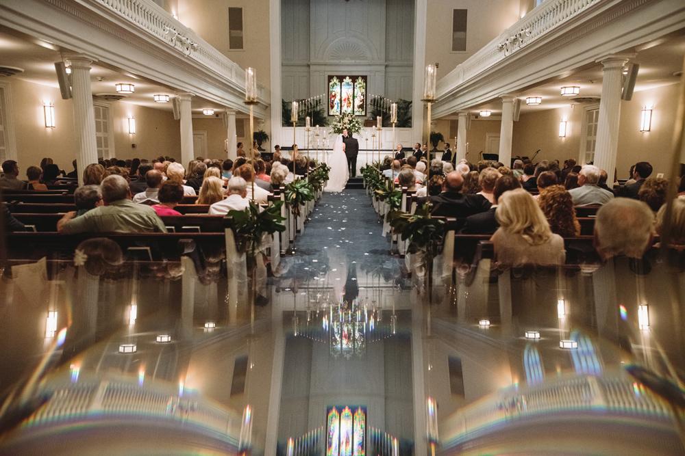 unique boyce chapel wedding ceremony