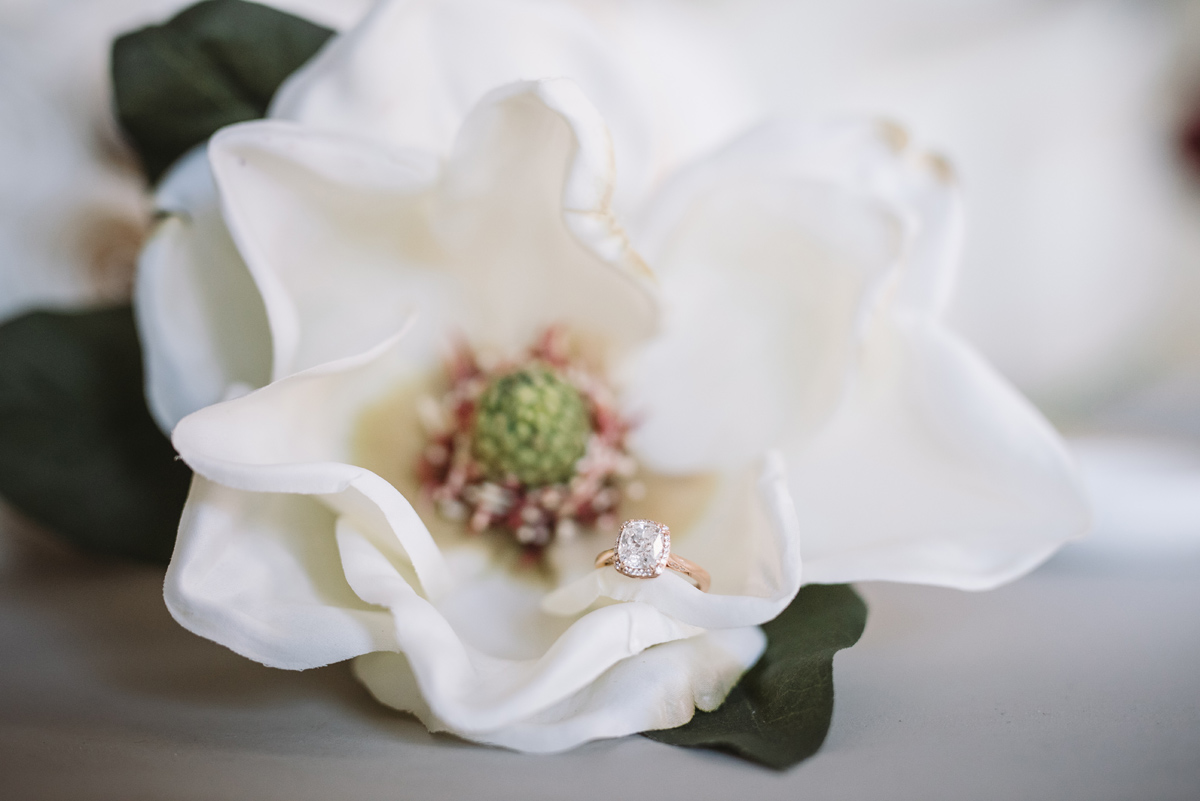 magnolia flower and ring