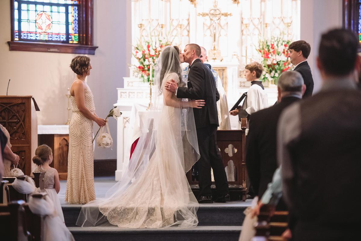 first kiss wedding ceremony