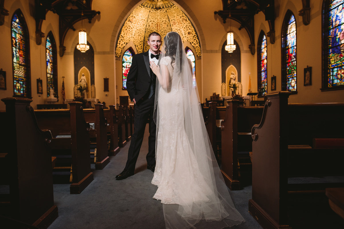 wedding portraits catholic church