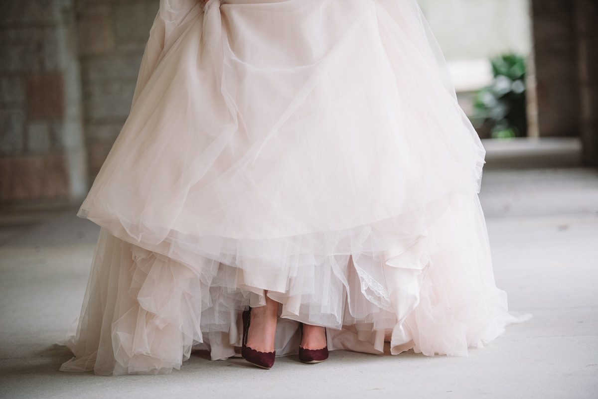 bride-maroon shoes