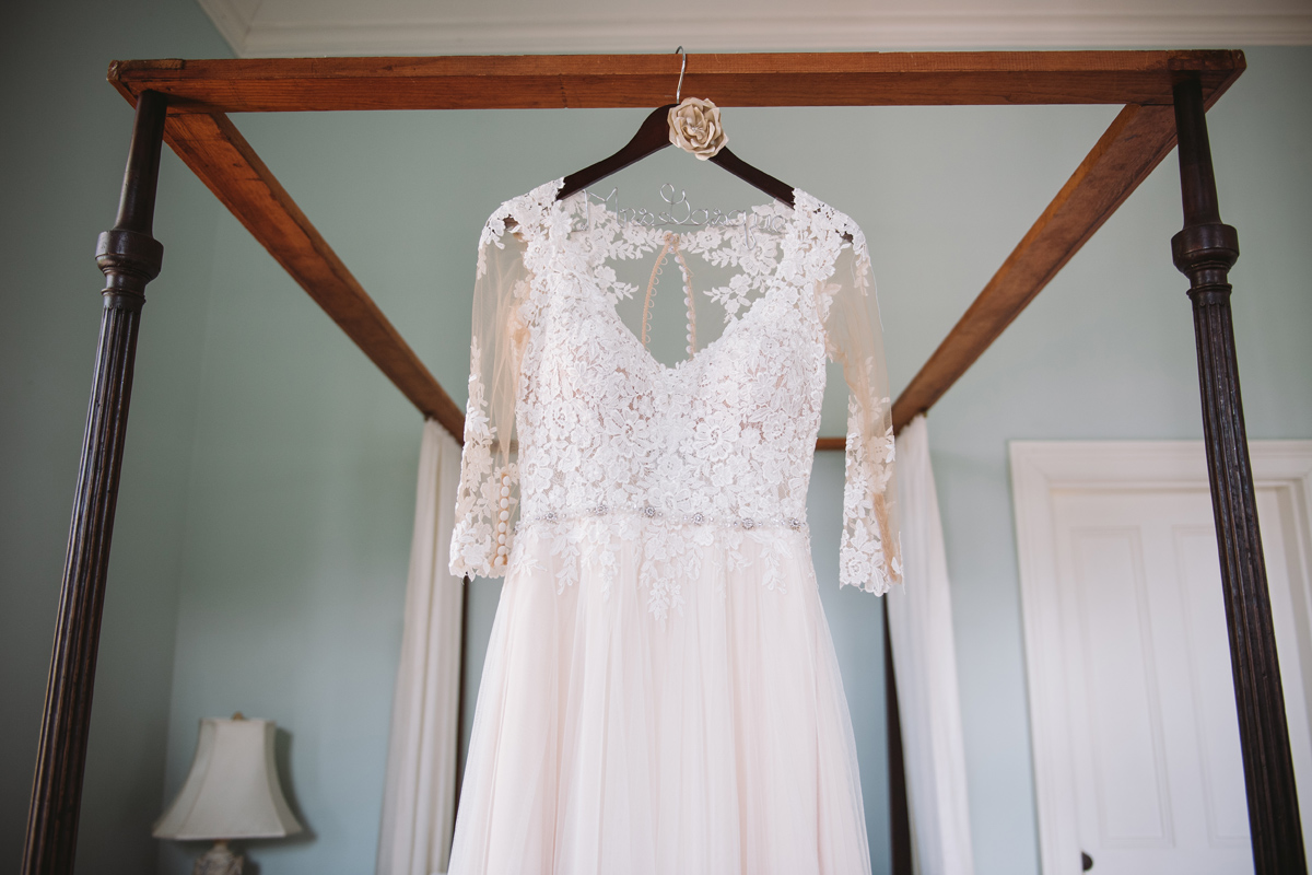 brides lace dress at the lace house