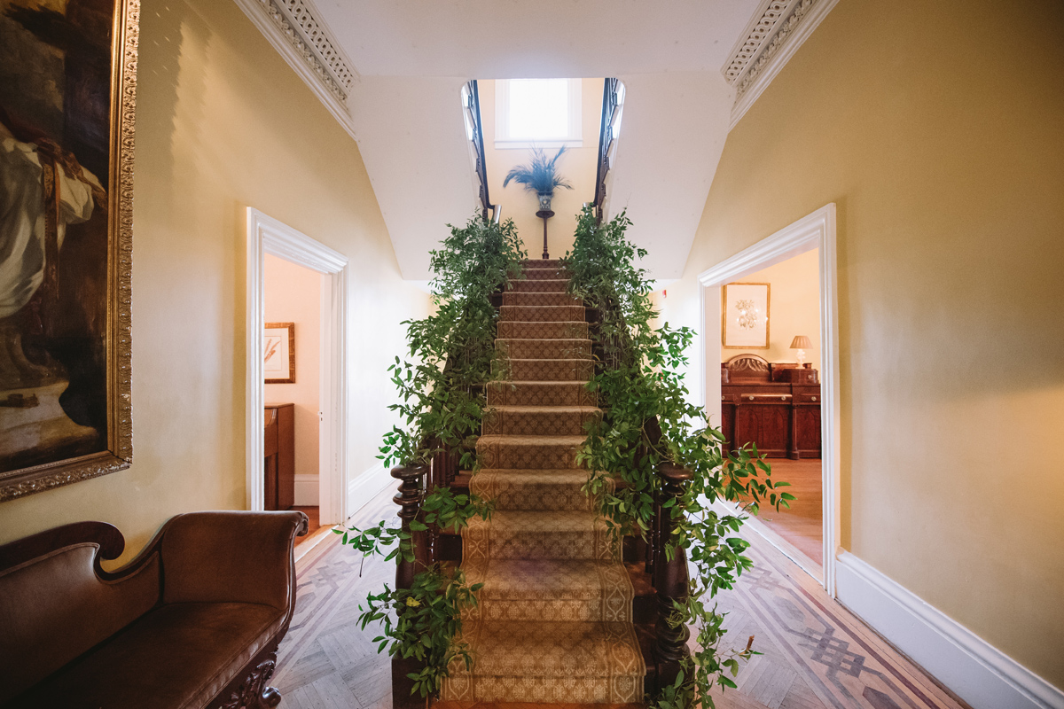 stairs at sc lace house greenery