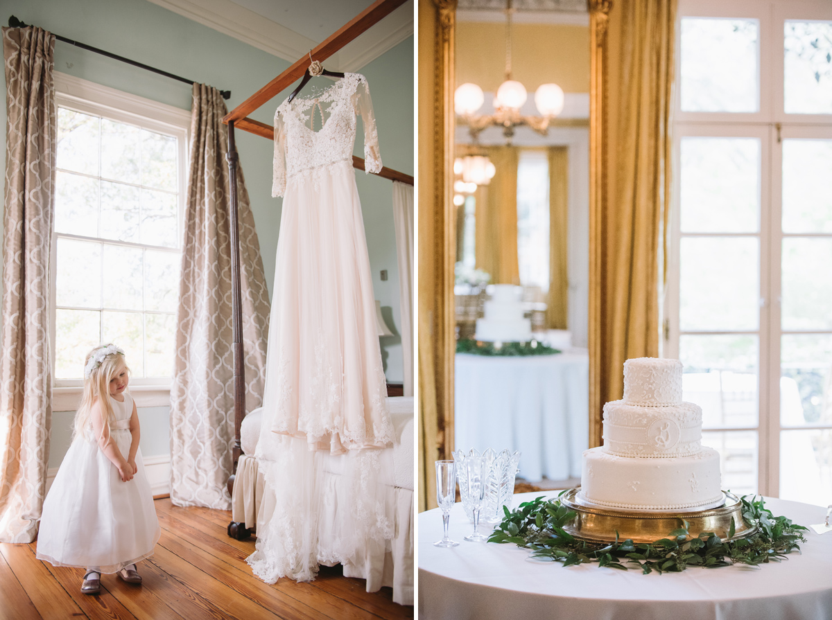 dress and cake lace house wedding