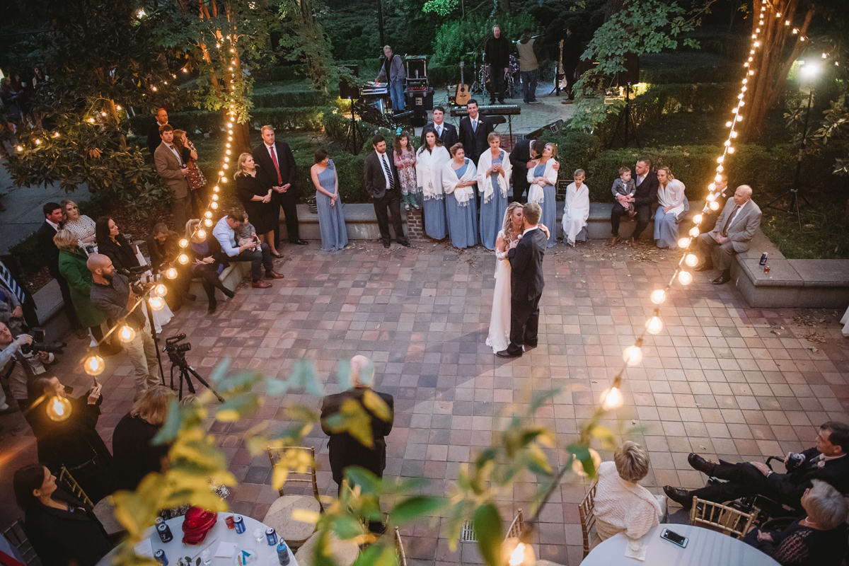 view from balcony first dance