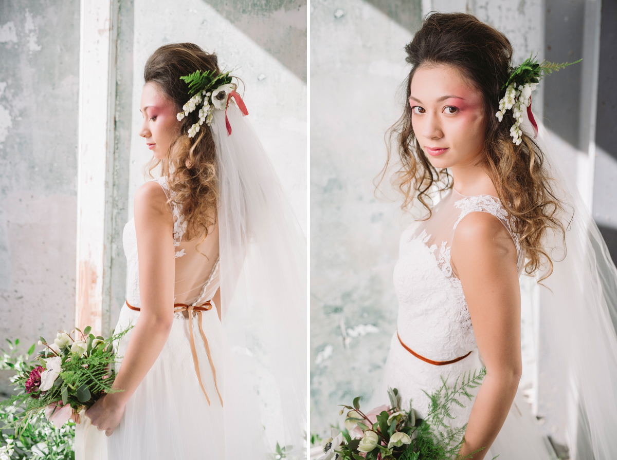 editorial flower bridal