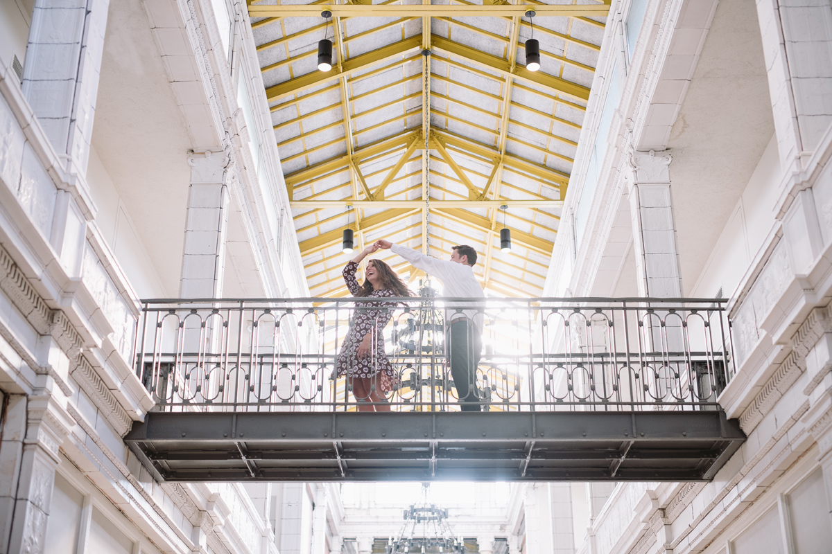 mainstreet arcade engagement session
