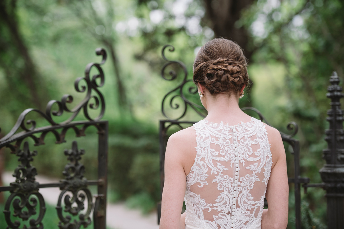 lace house bridal portrait
