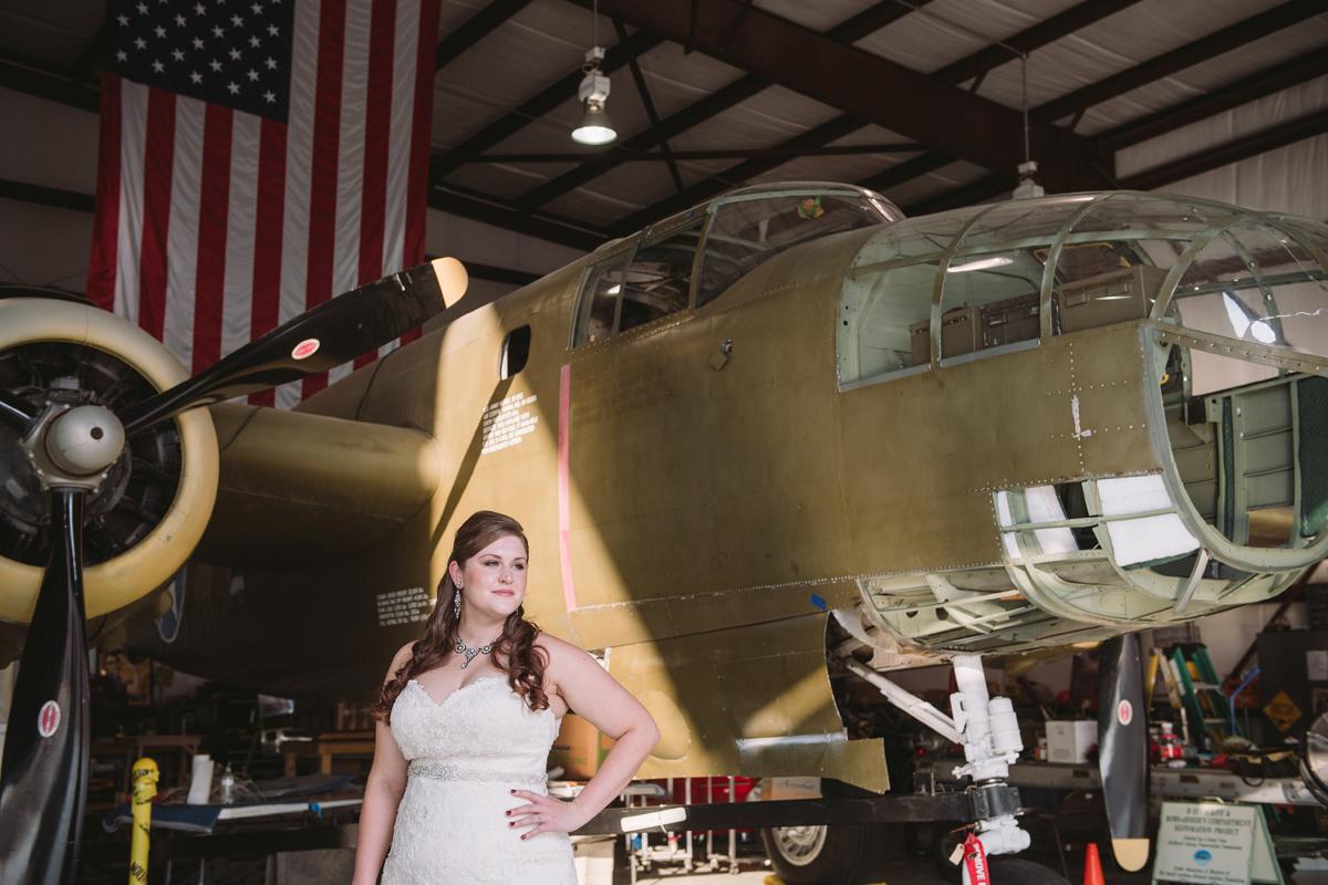 B42 Bomber bridal portriat
