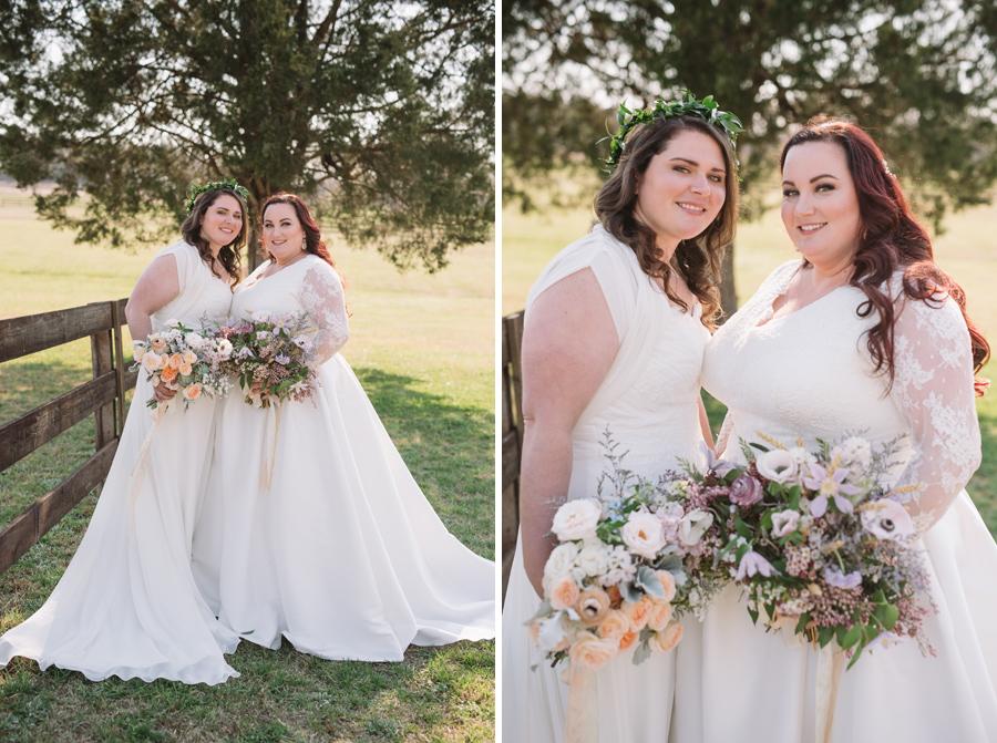 gorgeous bridal portraits gay wedding