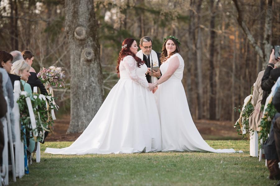 same sex wedding ourdoors
