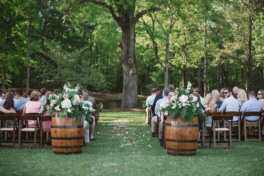 wine barrels ceremony