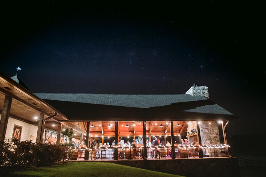 evening reception farm at ridgeway