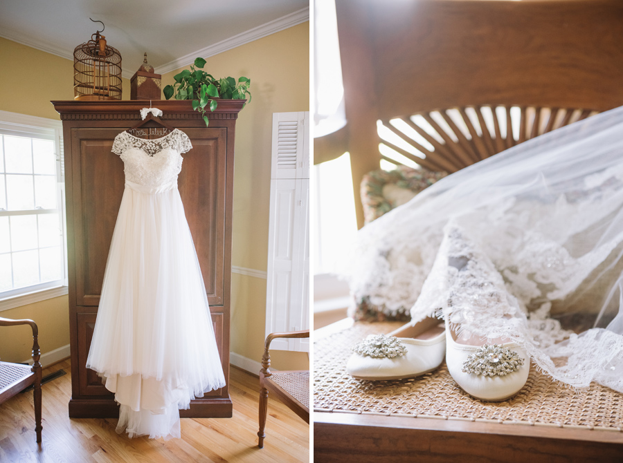 bridal details in home