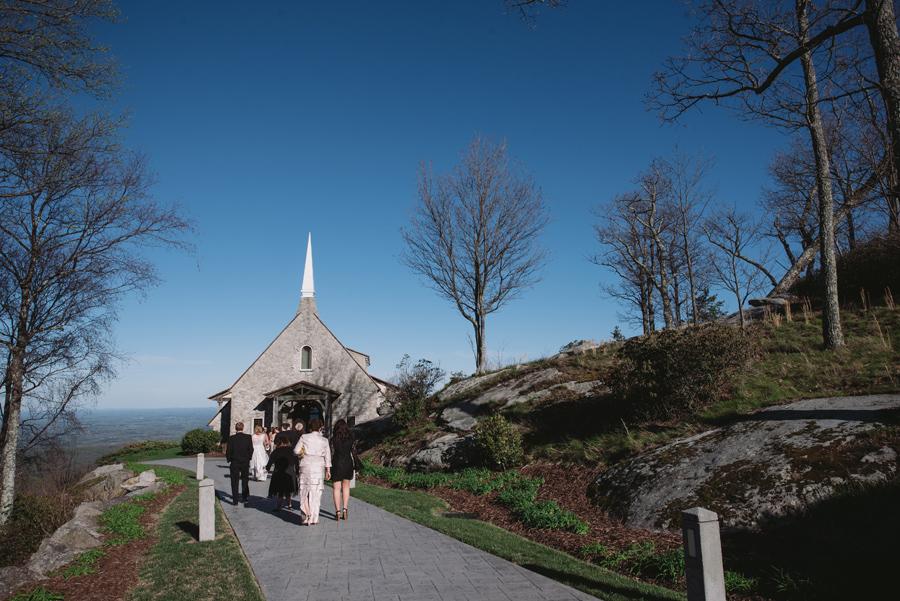 cliffs at glassy chapel