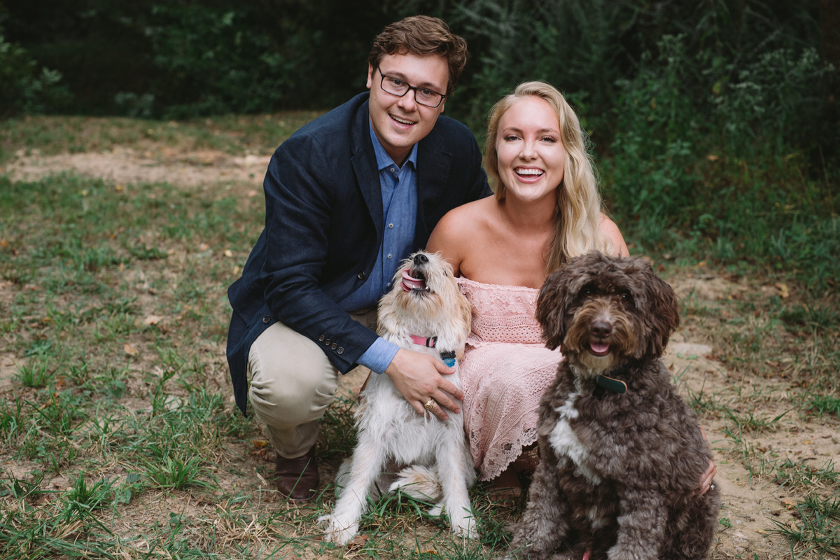 fun dog engagement session