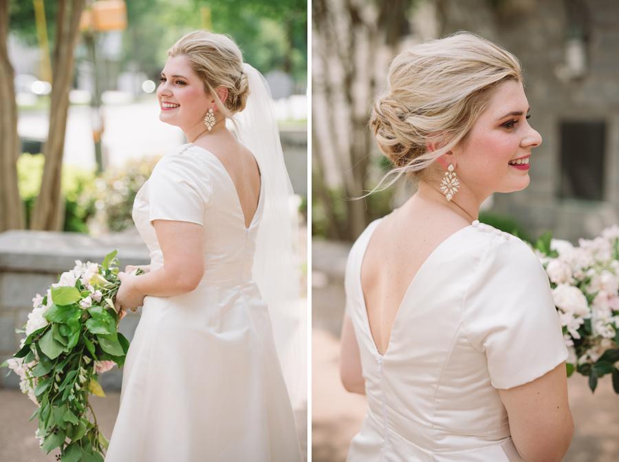 candid bridal portraits