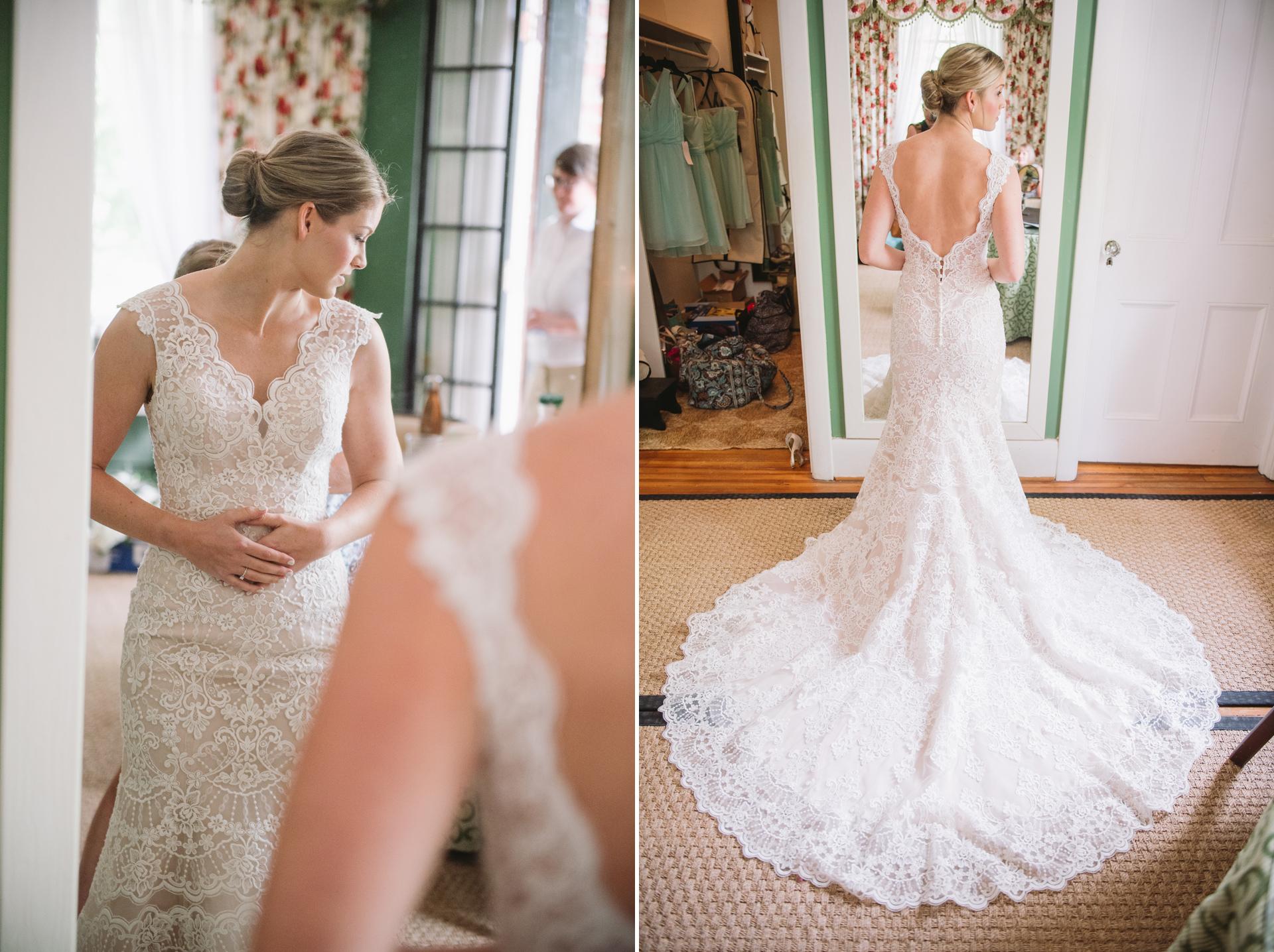 same sex wedding brides getting ready