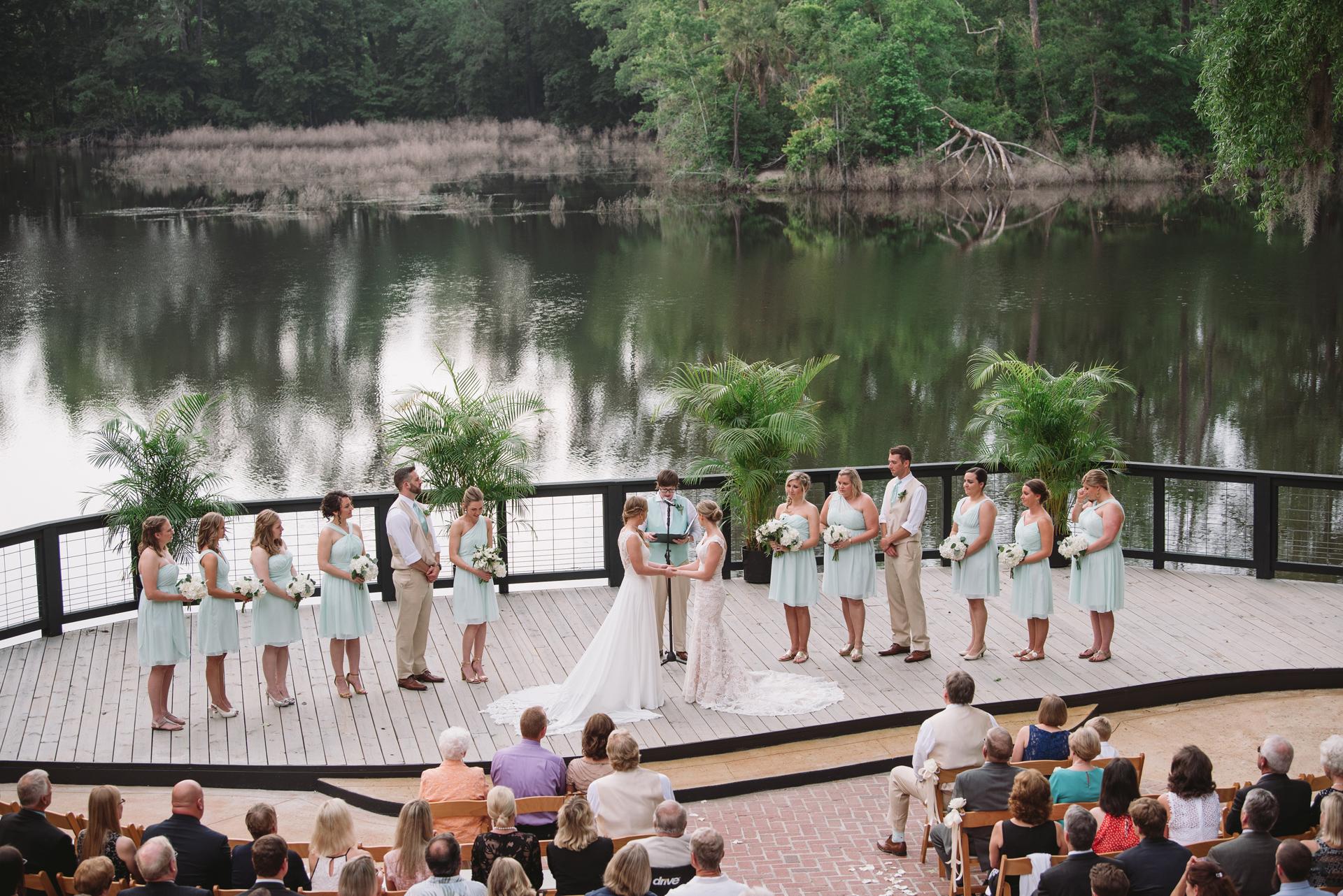 wedding at adams pond