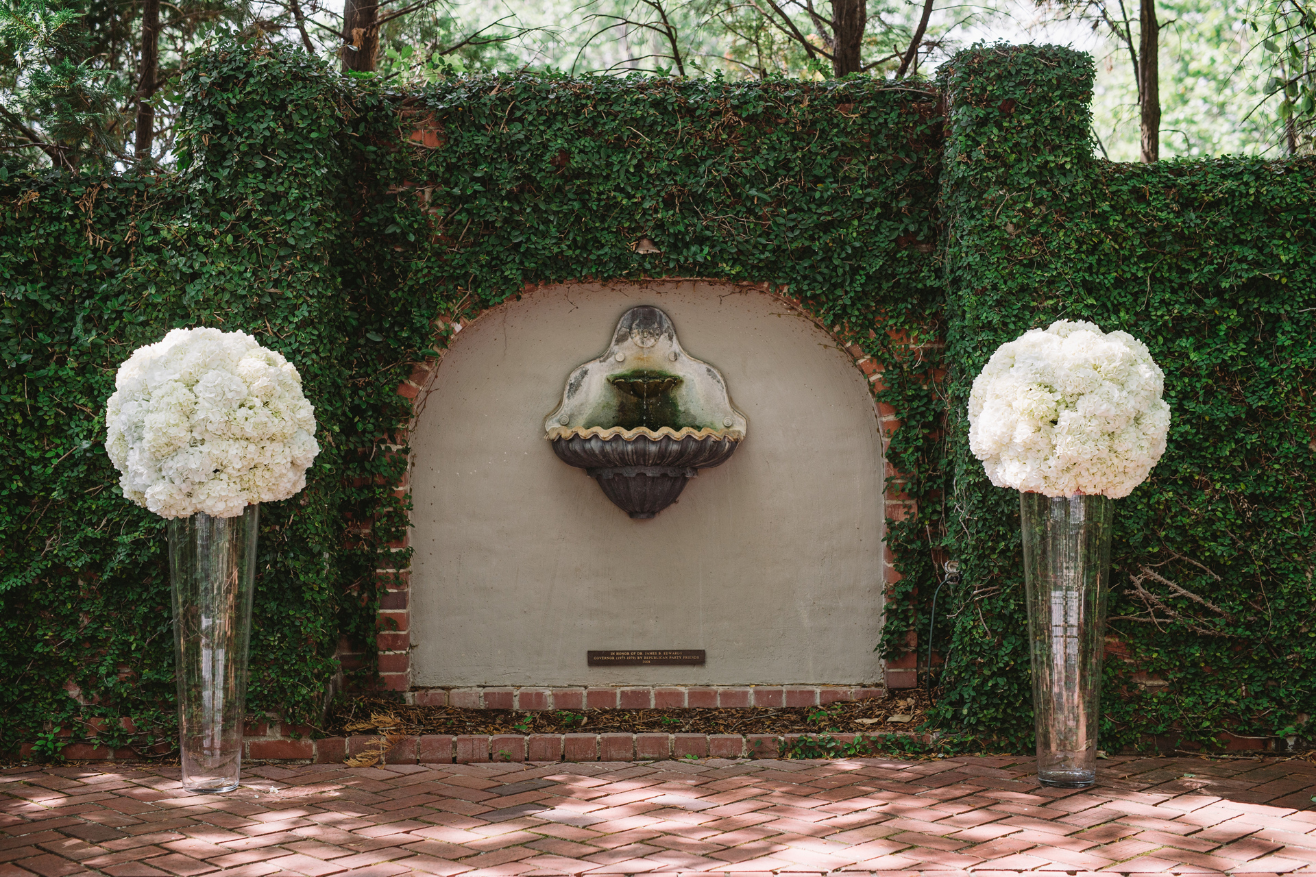 ceremony details lace house wedding garden