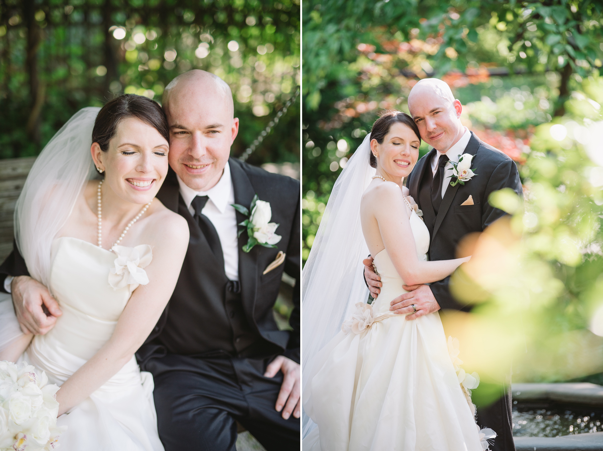 candid wedding portraits