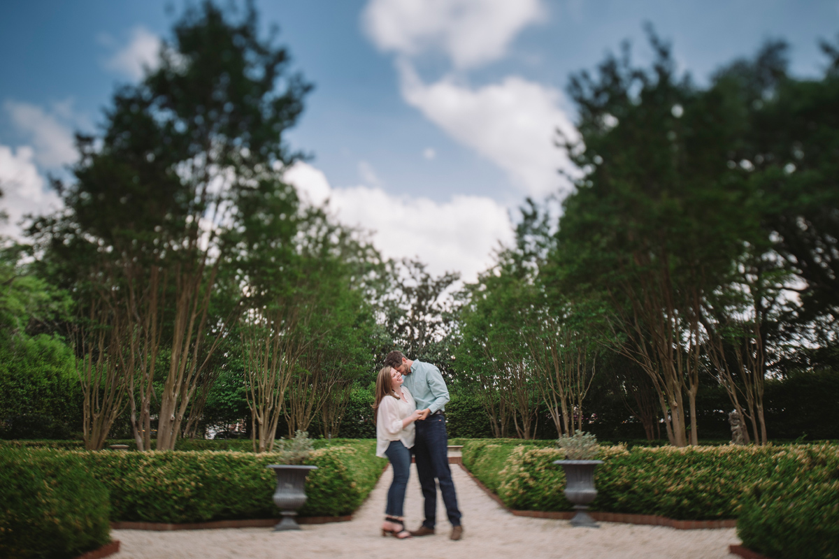 historic gardens engagement session