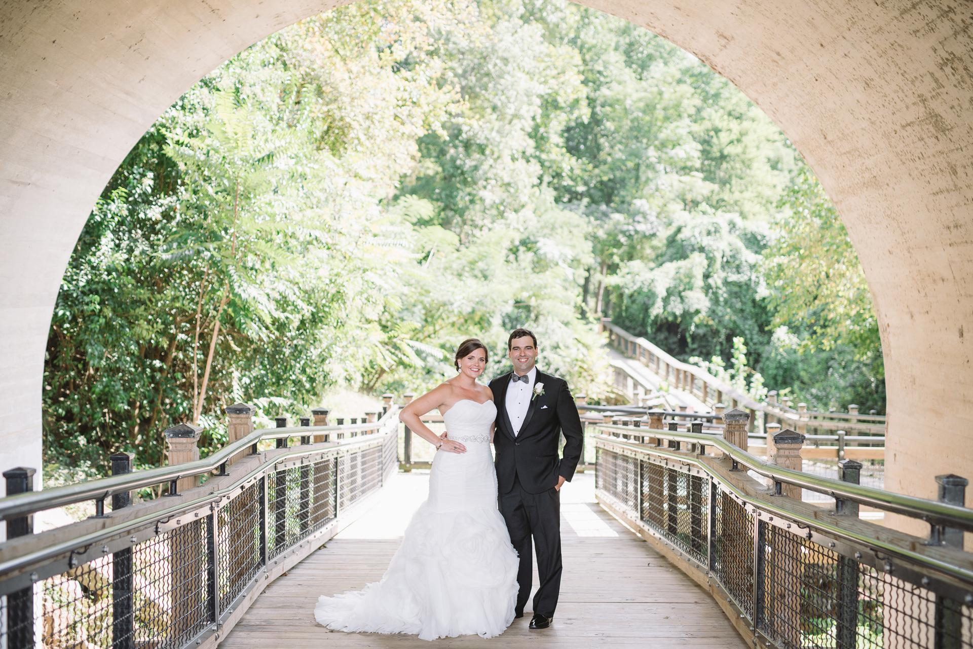 wedding portraits under the gervais street bridge
