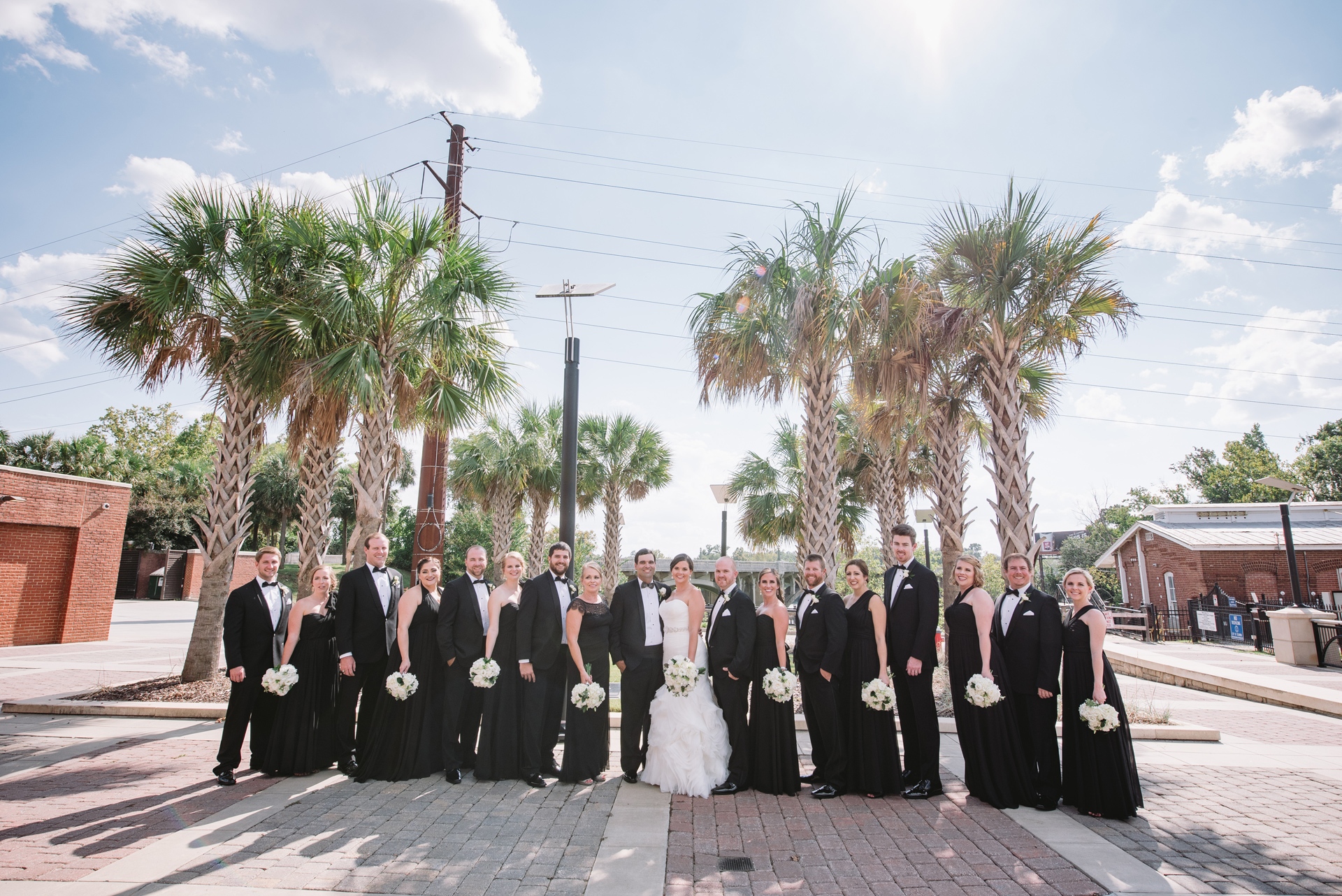 classic wedding party