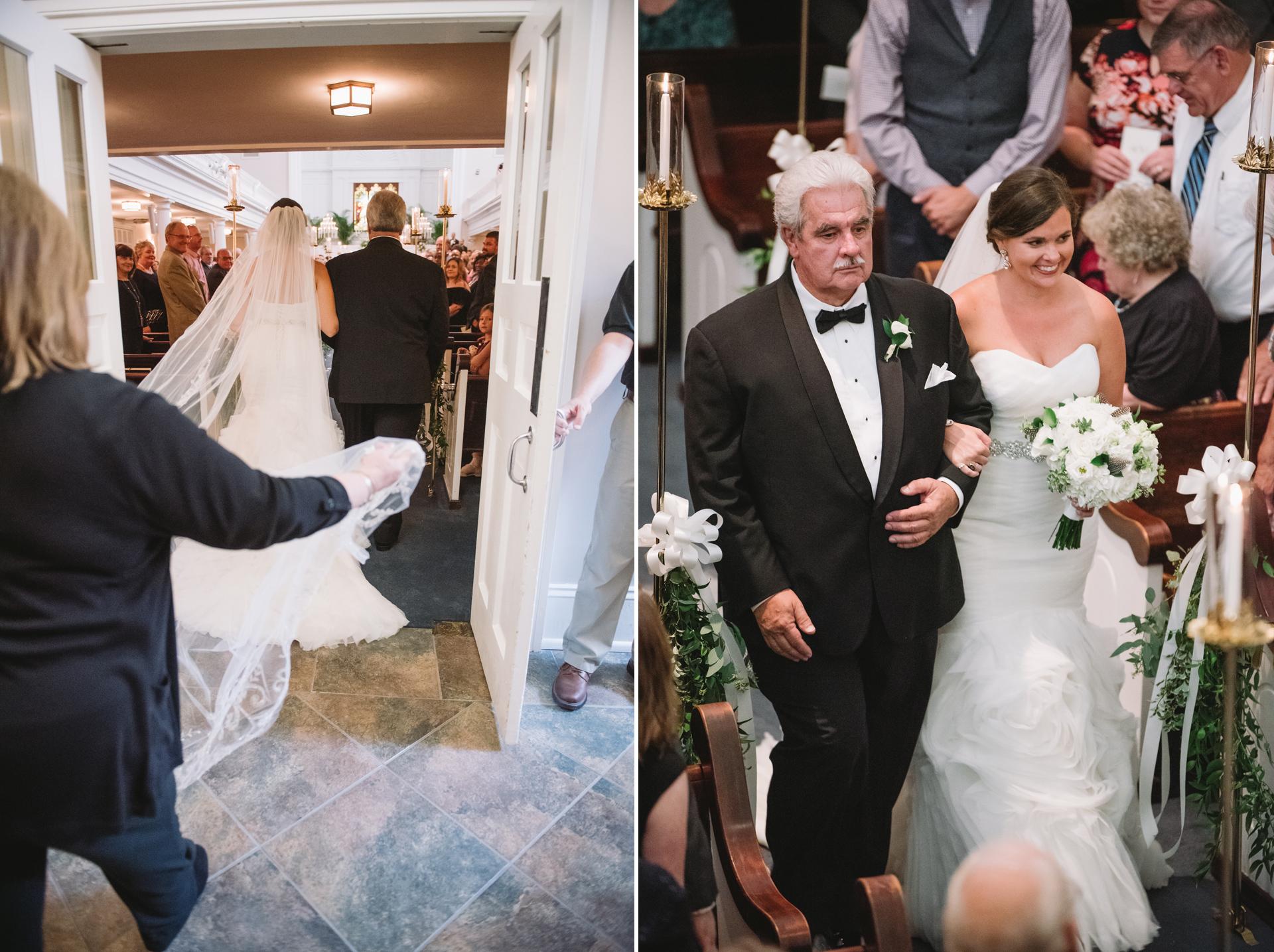 wedding ceremony boyce chapel