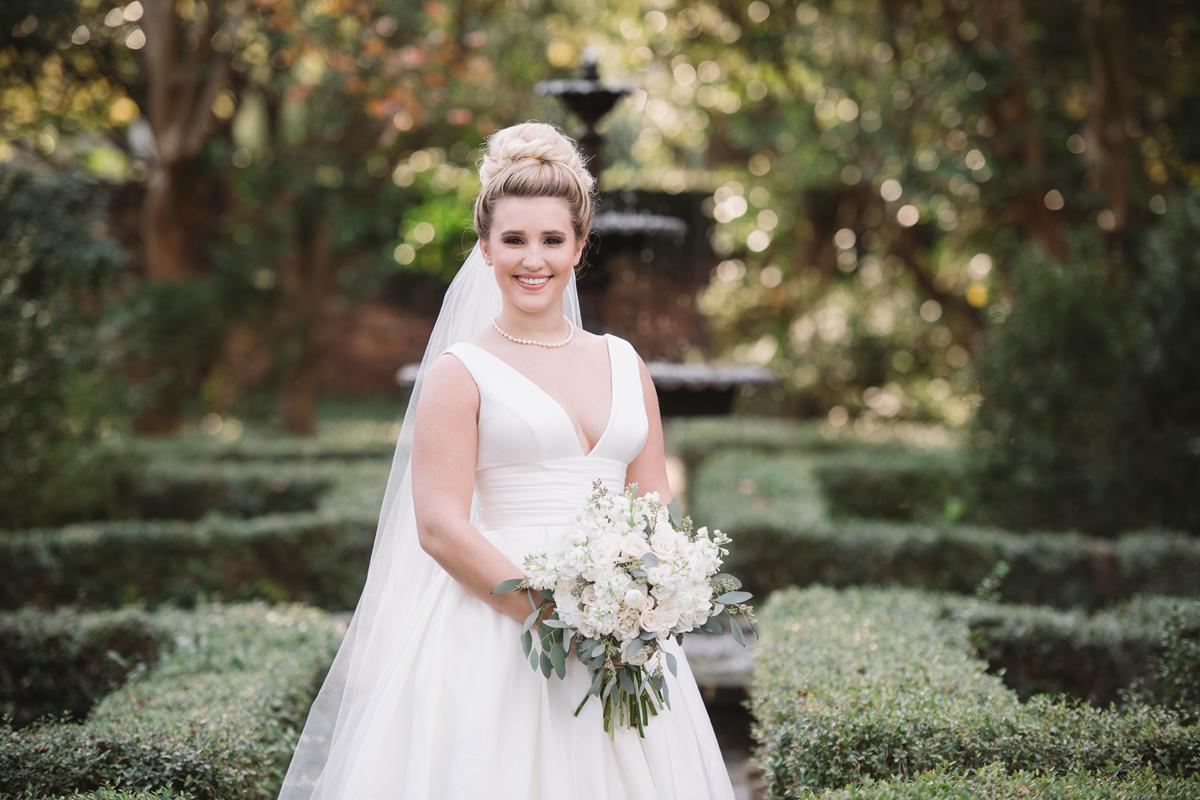 bridal portrait lace house gardens